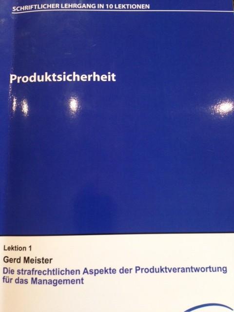 Skript von Rechtsanwalt Gerd Meister